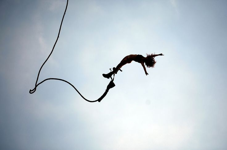 Bungee jumping!  I have done this.