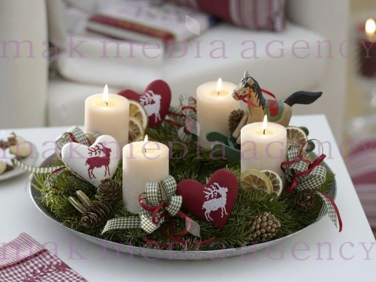618 best images about advent wreaths and decor on pinterest for Advent candle decoration