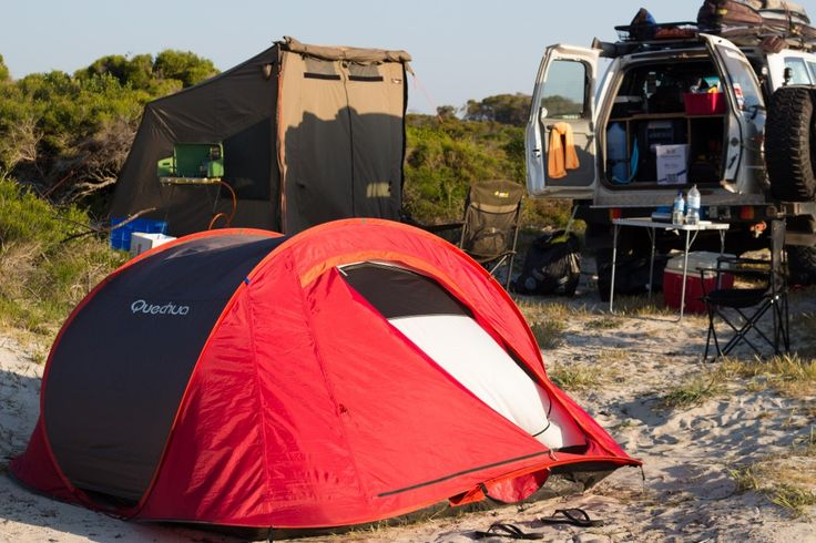 Camp in Sandy Cape, Western Australia - a little known place with beachfront views