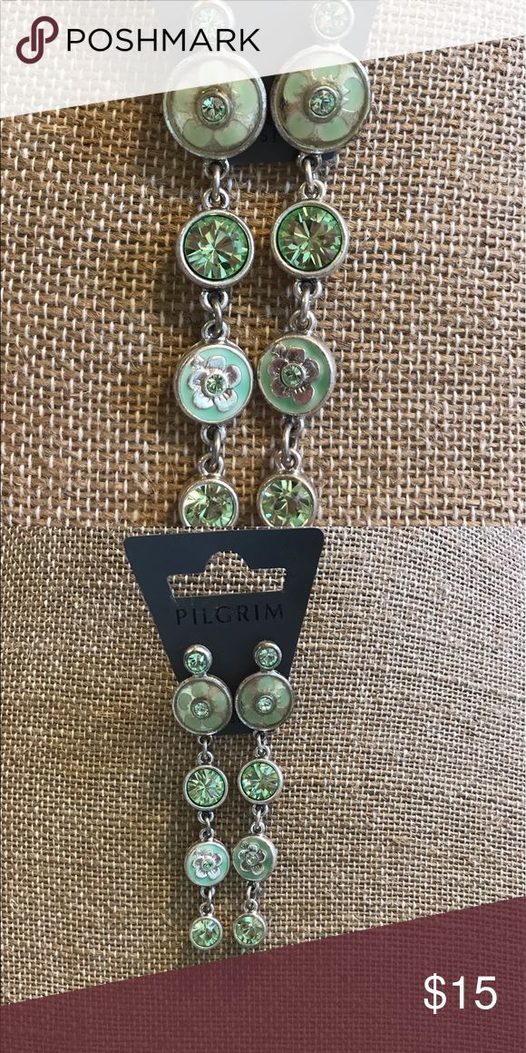 Selling this Beautiful Pilgrim, Austrian crystal earrings on Poshmark! My username is: tharshell. #shopmycloset #poshmark #fashion #shopping #style #forsale #pilgrim #Jewelry