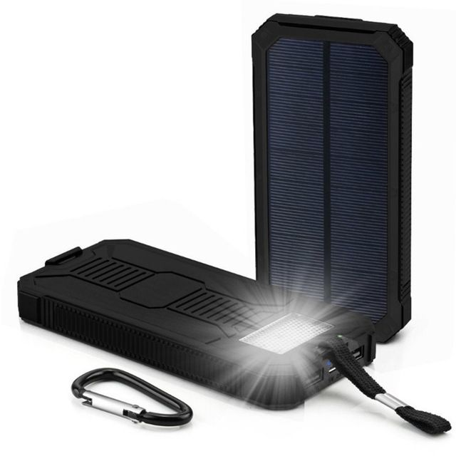 Sannysis 12000mah Led Dual Usb Ports Solar Panel Power Bank Case Charger Diy Kits Box Solar Charger Portable Solar Power Battery Charger Portable Solar Power