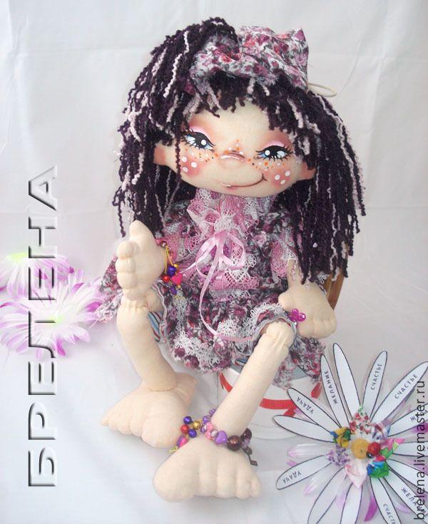 Купить Текстильная кукла Хитрюшка Алинка и ромашка желаний. - разноцветный, интерьерная кукла, текстильная кукла