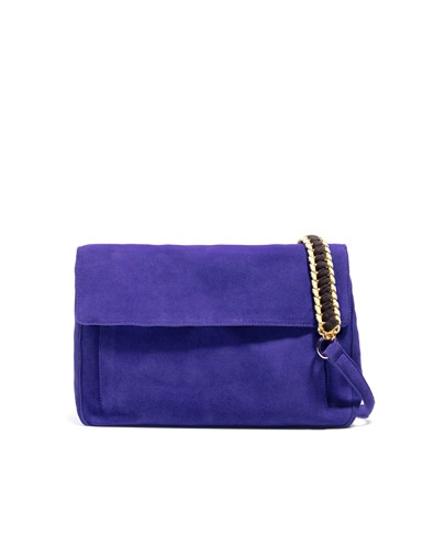 SUEDE CITYBAG WITH CHAIN HANDLES - Handbags - Woman - ZARA