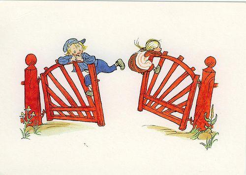 Illustration from Astrid Lindgren's book on Emil (Emil and Ida)