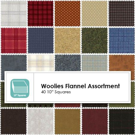 Woolies Flannel Layer Cake 42 10 Squares Layer Cake