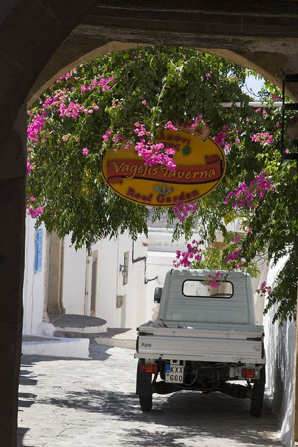 On the streets of Patmos, Dodecanese Islands, Greece (by dirk huijssoon).