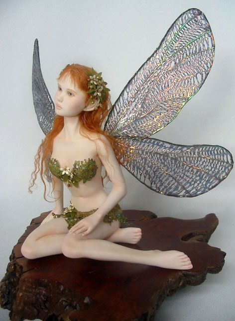 fairy made from polymer clay