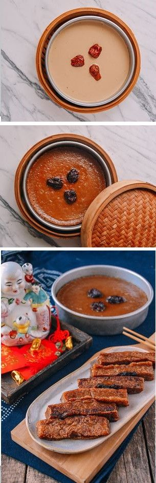 Nian Gao, 红糖年糕, recipe by the Woks of Life