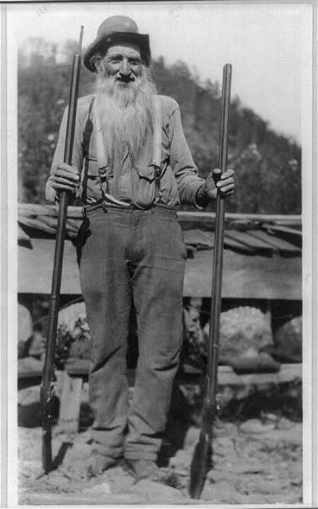 Mountain man. Kentucky Rifles