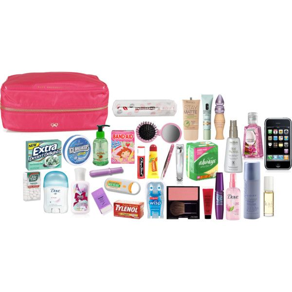 """""""A Girl's EMERGENCY KIT!"""" by edilialoves5 on Polyvore ~For my Substituting bag~"""
