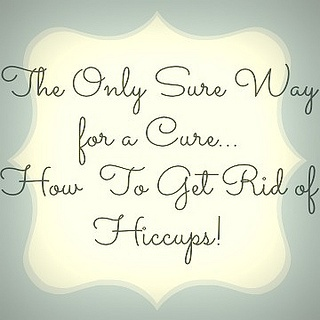 Cure Hiccups! This really cures my hiccups, every single time I've tried this!