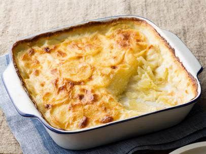 Get Scalloped Potatoes au Gratin Recipe from Food Network