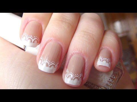 ▶ Нежный маникюр / свадебный маникюр ( Wedding French Manicure ) - YouTube