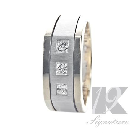 This elegant and astonishing 19K hand crafted band, signifies the meticulous craftsmanship and attention to detail that distinguishes every piece in the 19K Signature Series Collection.  19K Manufacturing Process: 4- 6 weeks