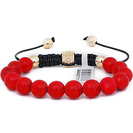 Red Natural Corallite Shamballa prayer Bracelet | shamballa shop