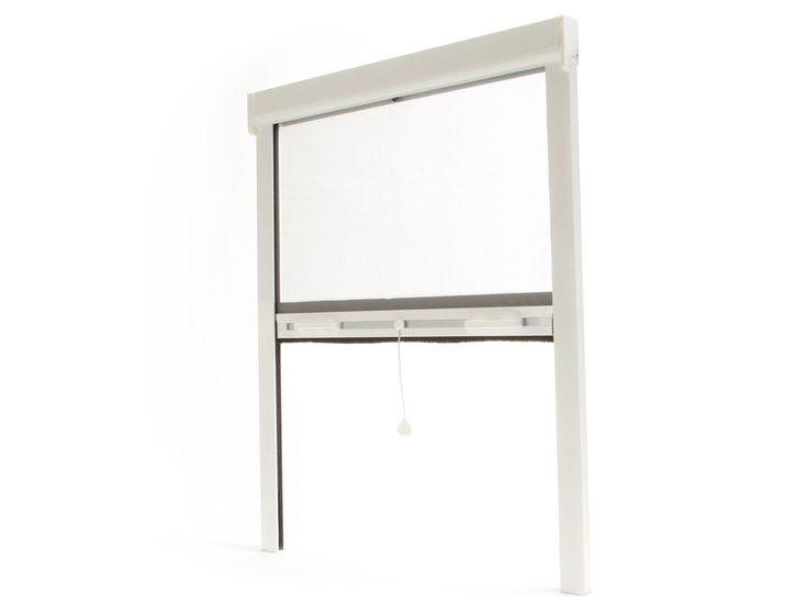 store moustiquaire blanc sur mesure pour fenêtre