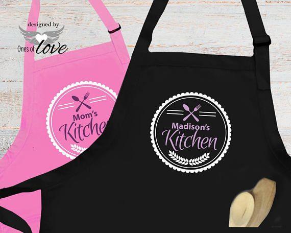 baking apron Customized Apron Christmas love bake Christmas custom Apron Personalized Apron