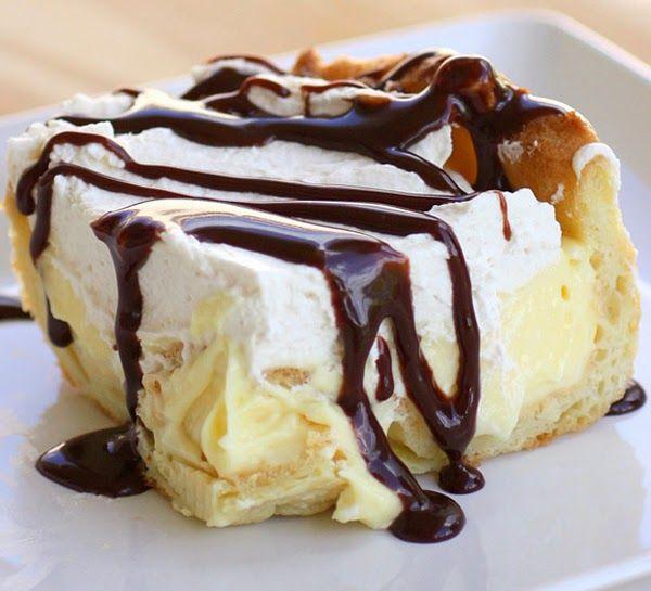 Συνταγές για γλυκά, Εκλέρ κέικ με σοκολάτα, Recipes for Cakes, Eclairs cake with chocolate, Rezepte für Kuchen, Kuchen mit Schokolade Eclairs