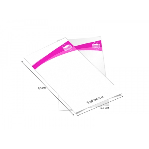 Imprenta online barata - Flyers mini económicos tamaño tarjeta ideales para discotecas, impresión low cost