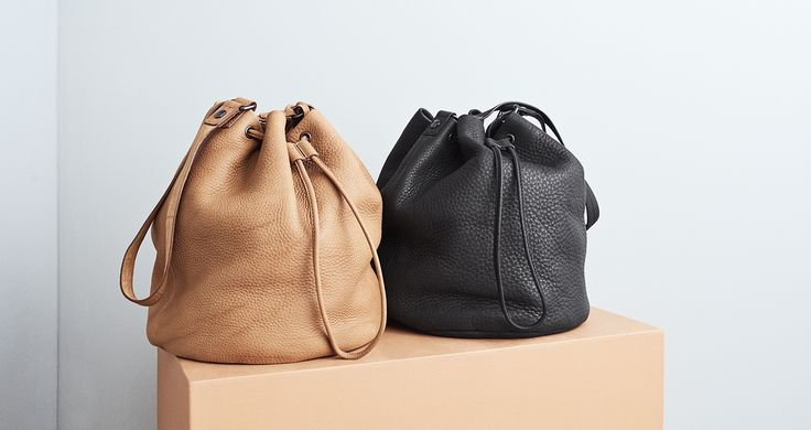 Yvonne Koné SS16 Bucket bags in vegetable-tanned leather