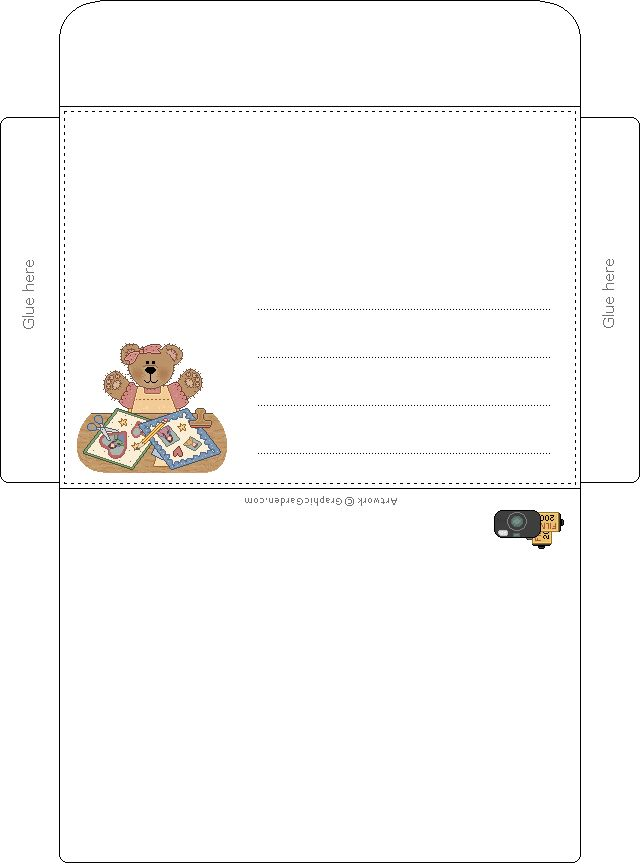 129 best Envelope templates images on Pinterest Envelope - 4x6 envelope template