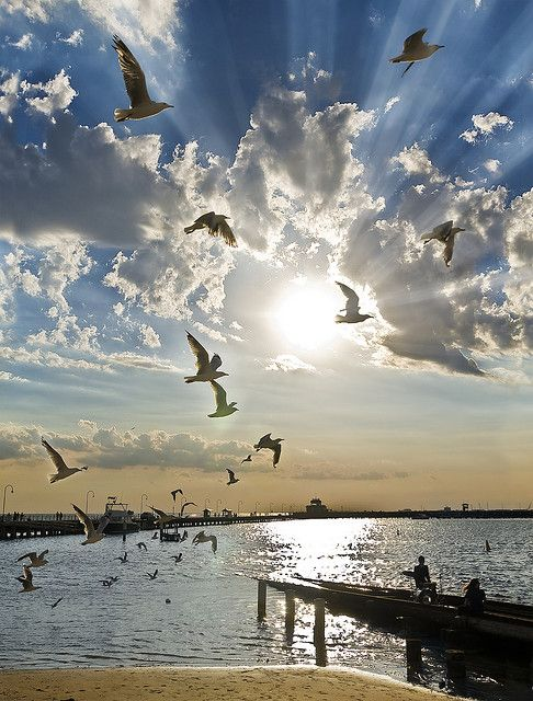 Beautiful sky. ascension by sadaiche (Peter Franc). (St. Kilda Pier, Melbourne Victoria Australia)