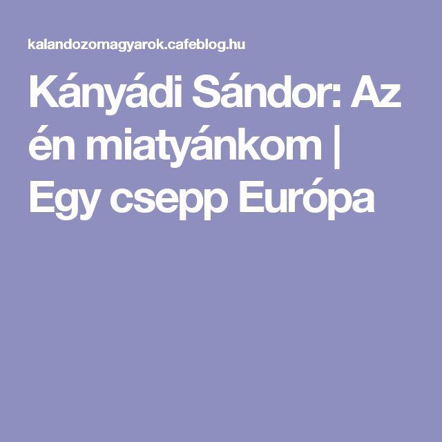 Kányádi Sándor: Az én miatyánkom   Egy csepp Európa
