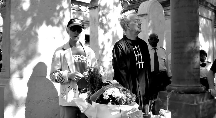 "Ray Manzarek and Robby Krieger at Jim Morrison's Grave on 3rd July 2011 - Père Lachaise. In February 2012, Ray recorded Breakn' a Sweat with DJ #Skrillex and his fellow members Robby Krieger and John Densmore. On May 20, 2013, Raymond Daniel Manczarek, keyboardist of The Doors from 1965 to 1973,  has died at the age of 74. James Douglas ""Jim"" Morrison ☮ [Dec 8, 1943 ― July 3, 1971] ♡ The Doors. #JimMorrison #TheDoors #Legend #PereLachaise #Paris #France"