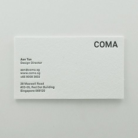 Come business cards.