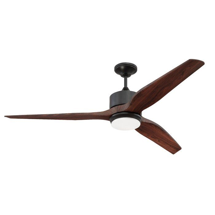 60 Paige 3 Blade Led Ceiling Fan With Remote Light Kit Included