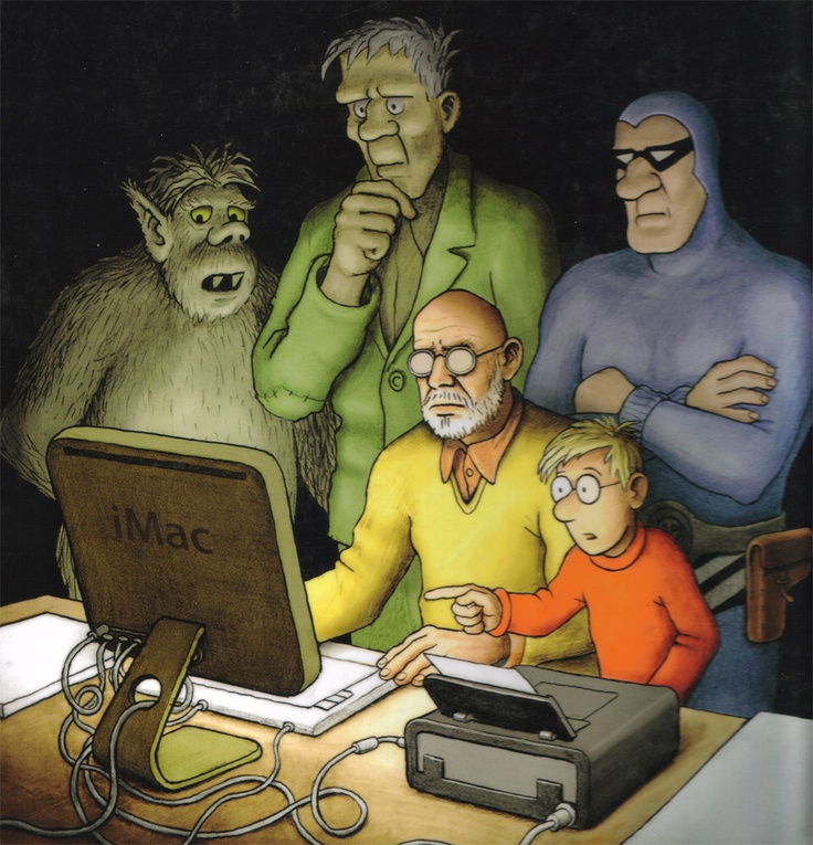 Forfatteren selv sammen med karakterer fra Felix tegneserierne
