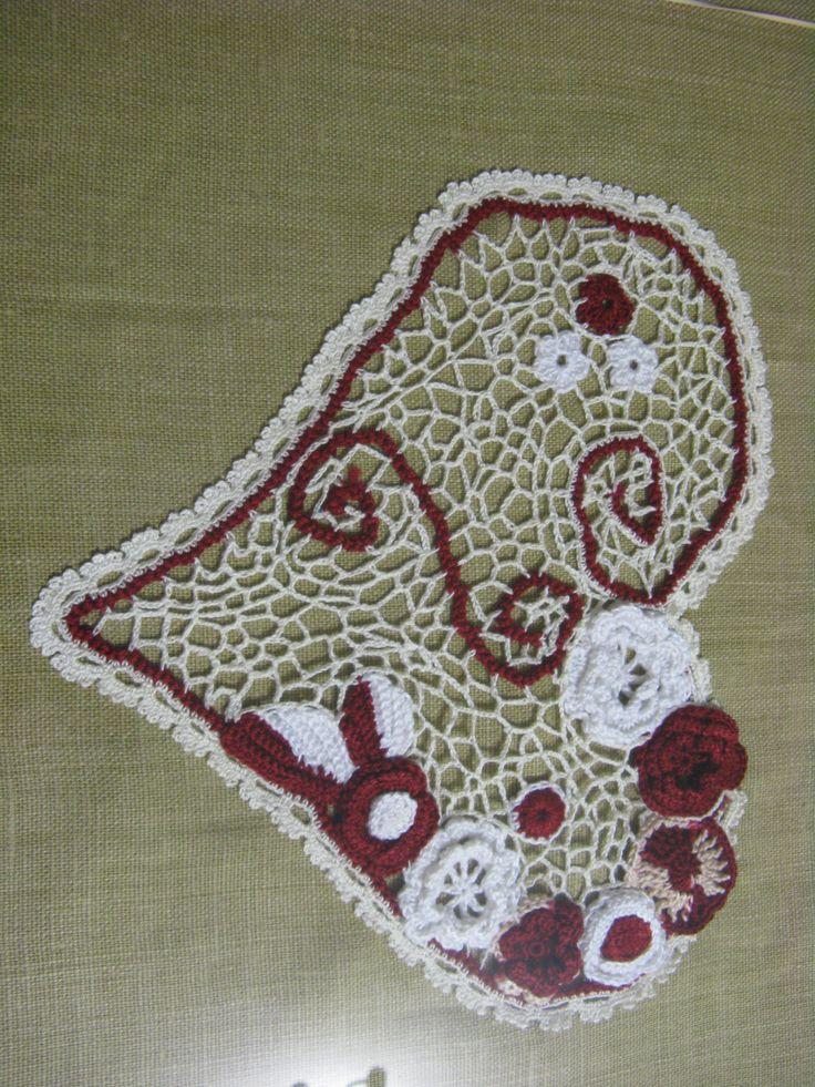 Almofada de crochet irlandês