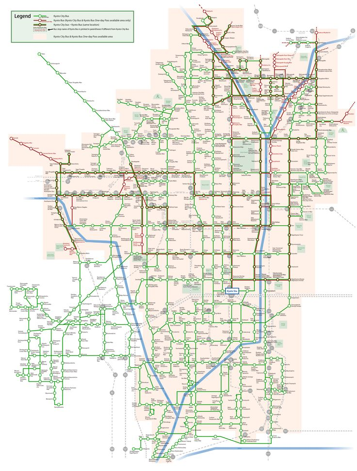 City Bus Route | Arukumachi KYOTO Route Planner Bus and Train Veteran