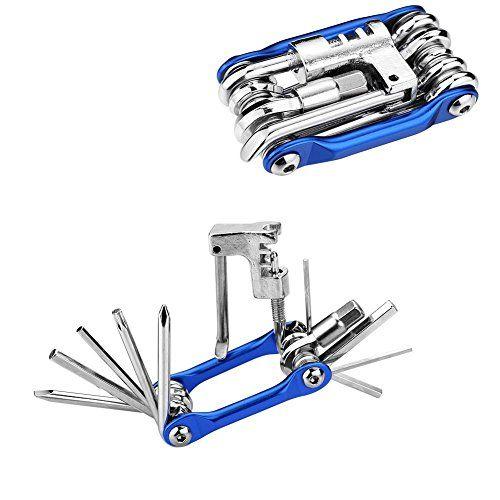 SIENOC 11 en 1 kit de reparación de la bicicleta multi de la herramienta con el triturador de la cadena / / llaves hexagonales de cabeza plana / destornillador Phillips / Torx T-25, todo en uno Herramientas multifunción para bicicleta