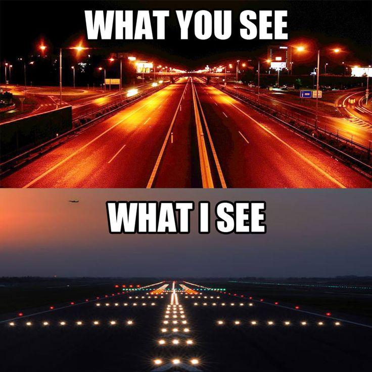 A pilot's point of view . . . #aviationhumor #1000milesofrunway #pilotperspective #pilotlife