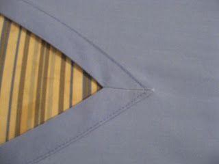 Free tutorial on sewing a bound neckline on scrubs.