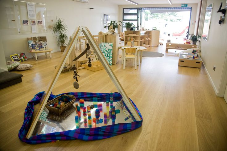 The Reggio triangular mirror tent allows children to observe themselves from all angles and helps them to develop their unique sense of self. Placing a variety of objects within the tent allows the opportunity to explore the items from many different and unusual angles and perspectives. For more inspiring classrooms visit: http://pinterest.com/kinderooacademy/provocations-inspiring-classrooms/
