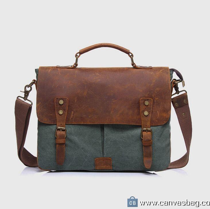 Canvas Messenger Bag Laptop Bags Computer Bags