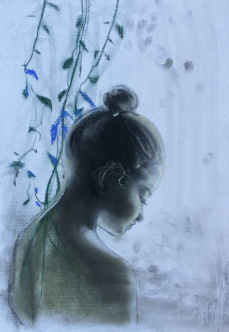 Soft pastel drawing art