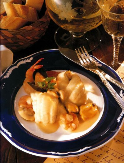 Filetes de Solha com Camarões e Mexilhões,receitas