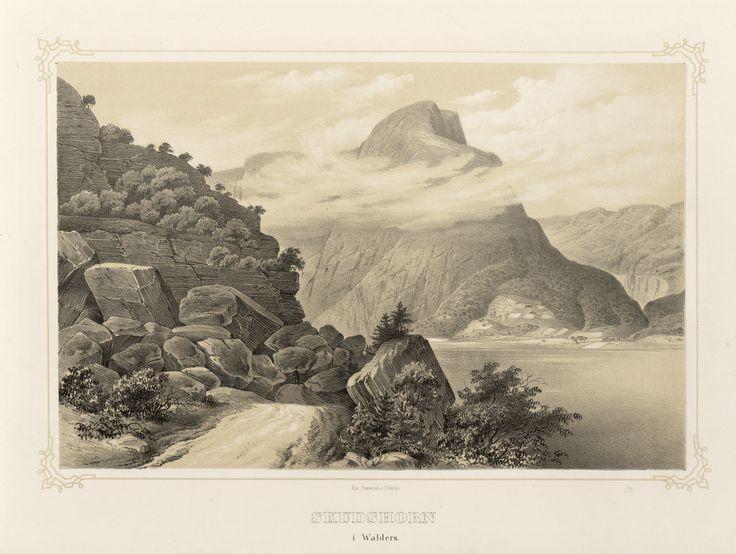 Norge fremstillet i Tegninger - Ukjent - Skudshorn i Walders. jpg (4896×3688)