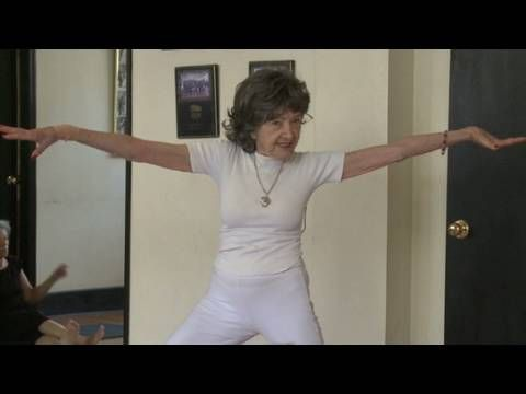 93 year old yoga instructor (and ballroom dancer!!) Tao Porchon-Lynch.  Inspirational beyond words!