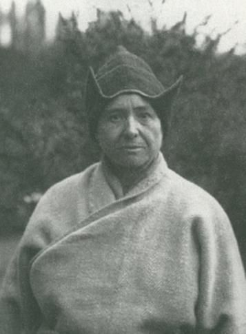 Born in 1868,  Alexandra David-Neel became an occultist, anarchist and most remarkable travel writer. In 1911 she set off, alone, to travel around India for the second time and in 1914 she secluded herself in a cave in the Himalayas for two years, intensively studying the mysteries of Tibetan Buddhism, as well as the mystic legends that surrounded Buddhist monks. By 1924 she had travelled to the forbidden city of Lhasa. She died in 1969, 101 years old, still travelling.