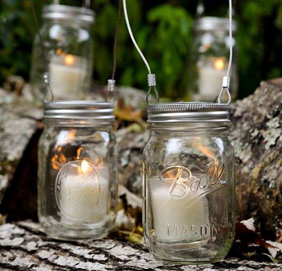 Mason Jar 3 in 1 Candle Holder/ Flower door sweetteaclothingco, $30.00