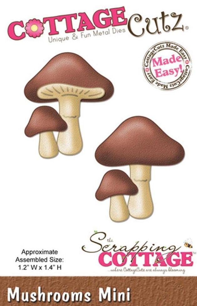 CC-MINI-147  Cottage Cutz Mini Die Mushrooms