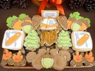 So many cookie ideas!: Happy Trail, Sugar Cookies, Decor Cookies, Sugar Events, Camps Cookies, Theme Wedding, Camps Parties, Parties Theme, Camps Theme