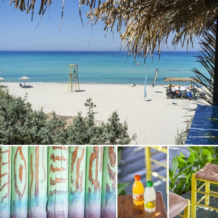 Hanging out at Messakti beach bar, Ikaria island