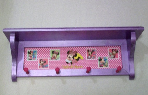 Minnie Mouse shelf by lauriereynolds1 on Etsy, $35.00