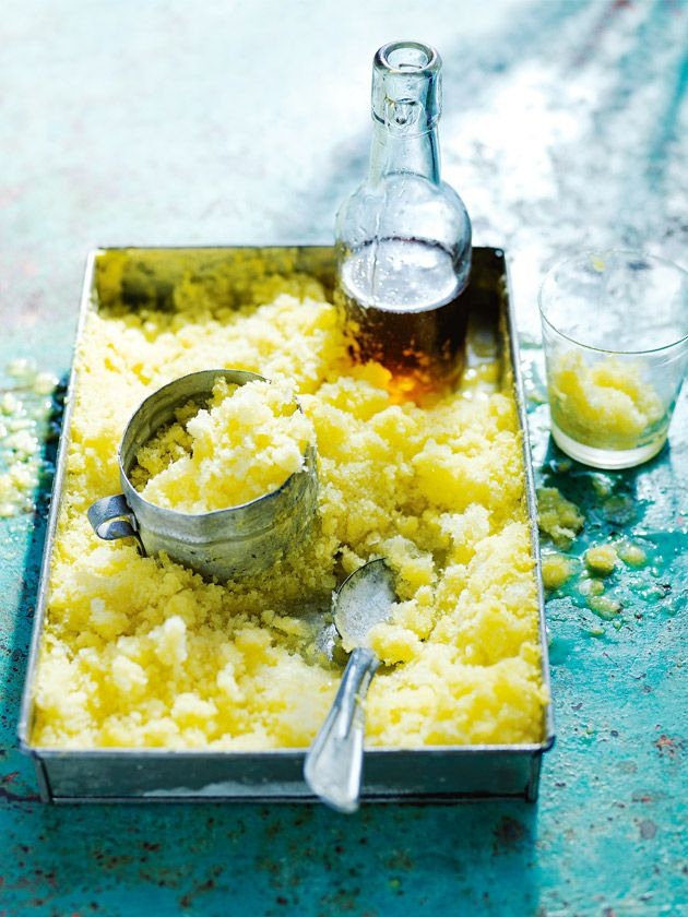 coconut and pineapple snow with pine-maple syrup from Donna Hay