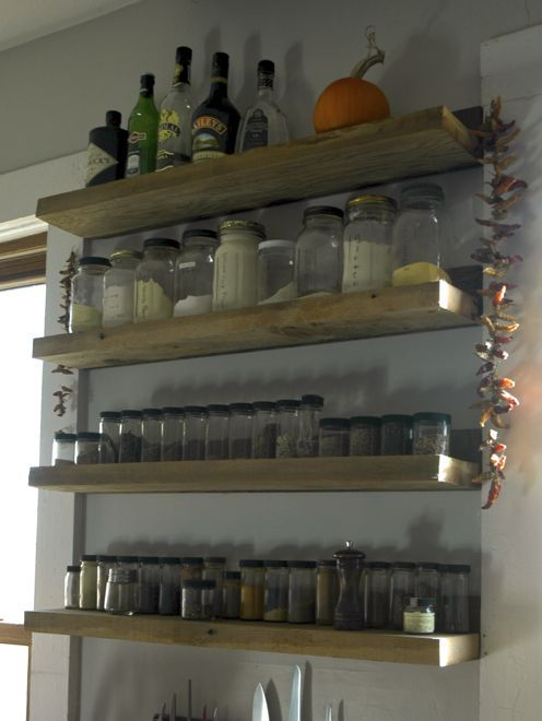 Industrial Chic Barn Wood Kitchen Shelves Diy Home